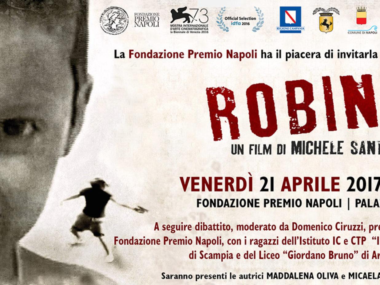 """Proiezione di """"ROBINU'"""" un film di Michele Santoro – Venerdì 21 aprile – ore 17:00 – Fondazione Premio Napoli"""